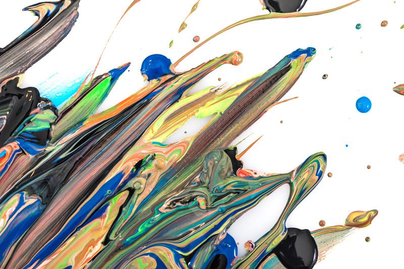 絵の具による絵画で表現した芸術的な美術